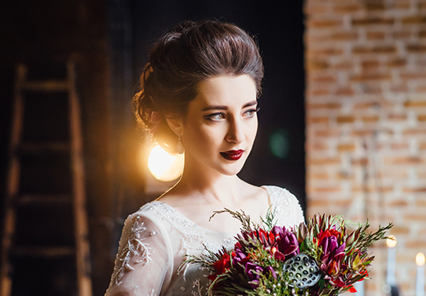 Elegant Bride at the Depot Warehouse in Columbus MS