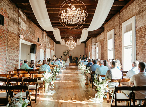 Real Wedding: The Johnson Wedding at The Depot Warehouse in Columbus, MS